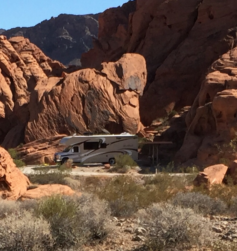 RV Parked in the Valley of Fire