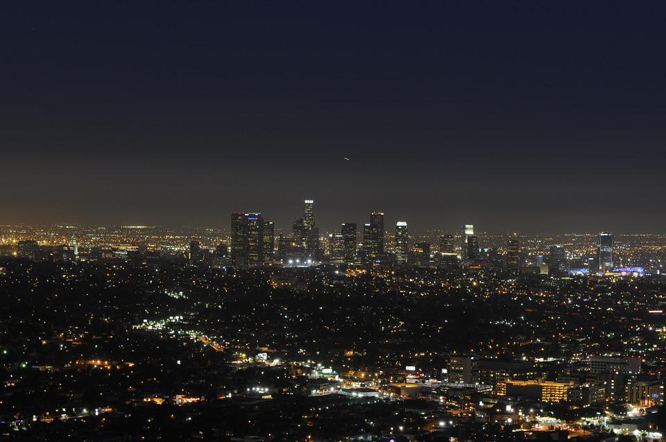 LA Sky Line at Night