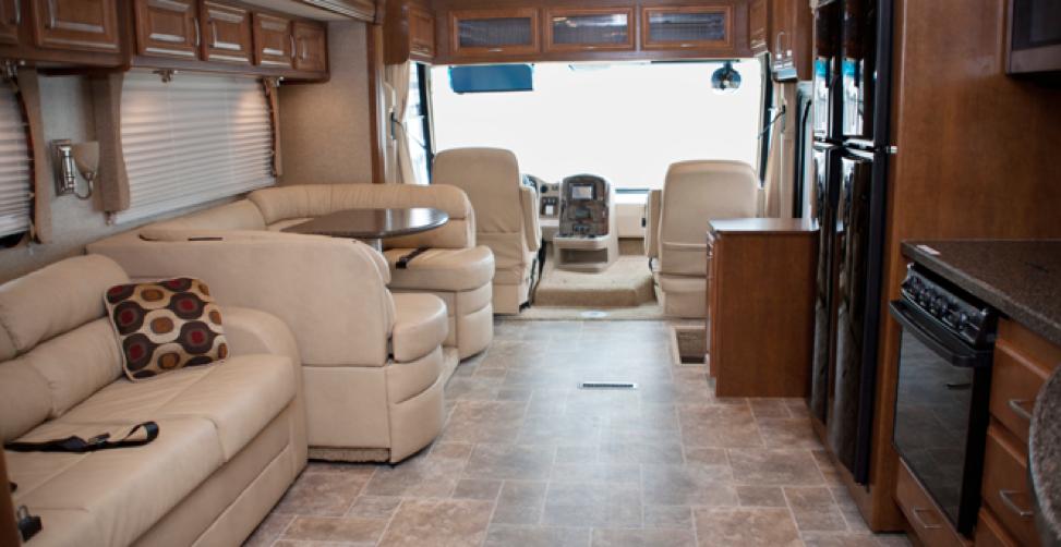 Luxury RV Living Room