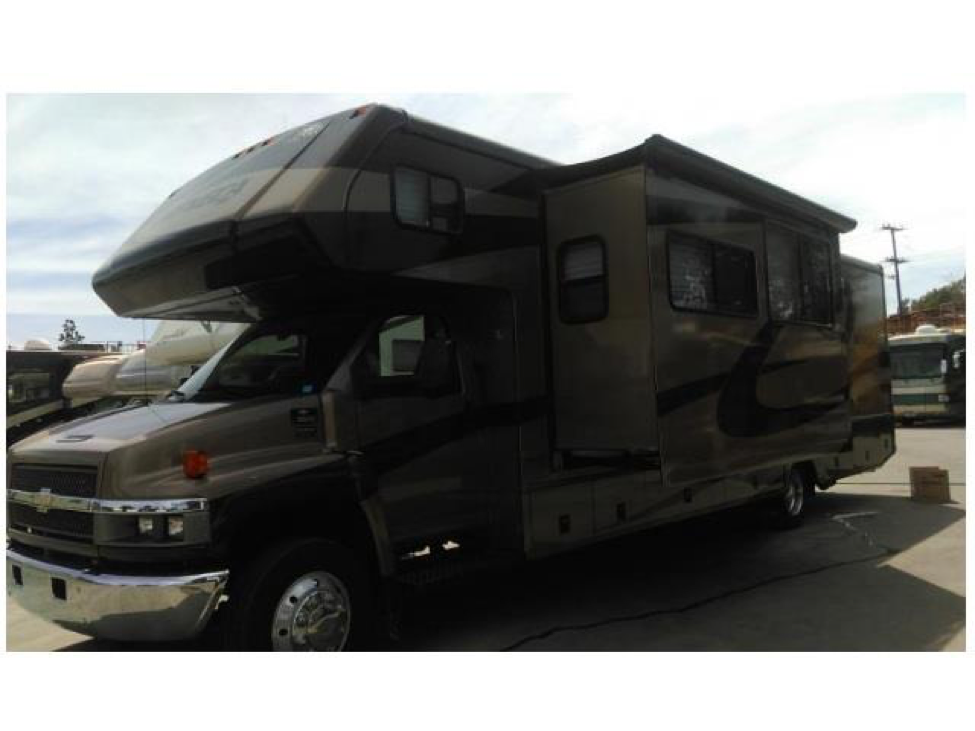 Class C Luxury RV Exterior With Slide Outs