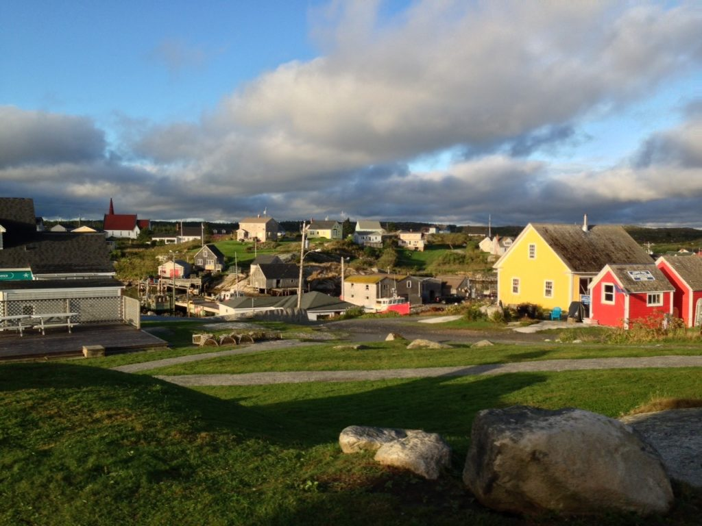 Nova Scotia, distance shot of houses in multiple colours.