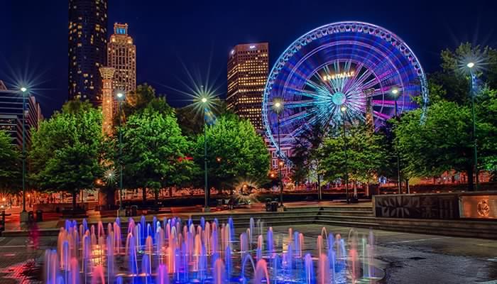 Atlanta Centennial Park District RV Road Trip