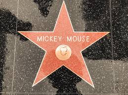 Picture of Mickey Mouses star on the Hollywood Walk of Fame