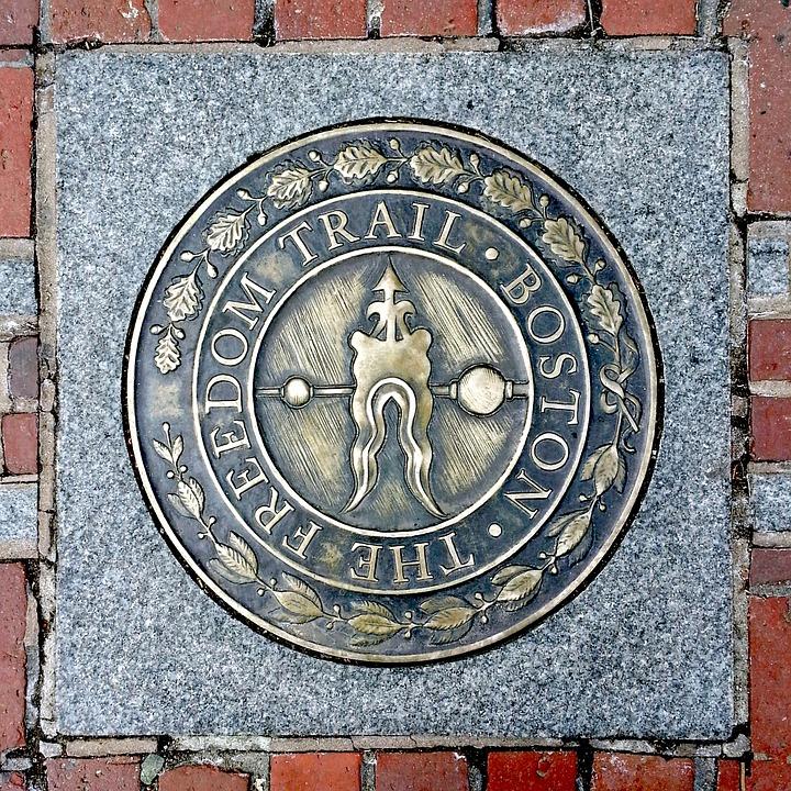 Freedom trail Plaque, Boston