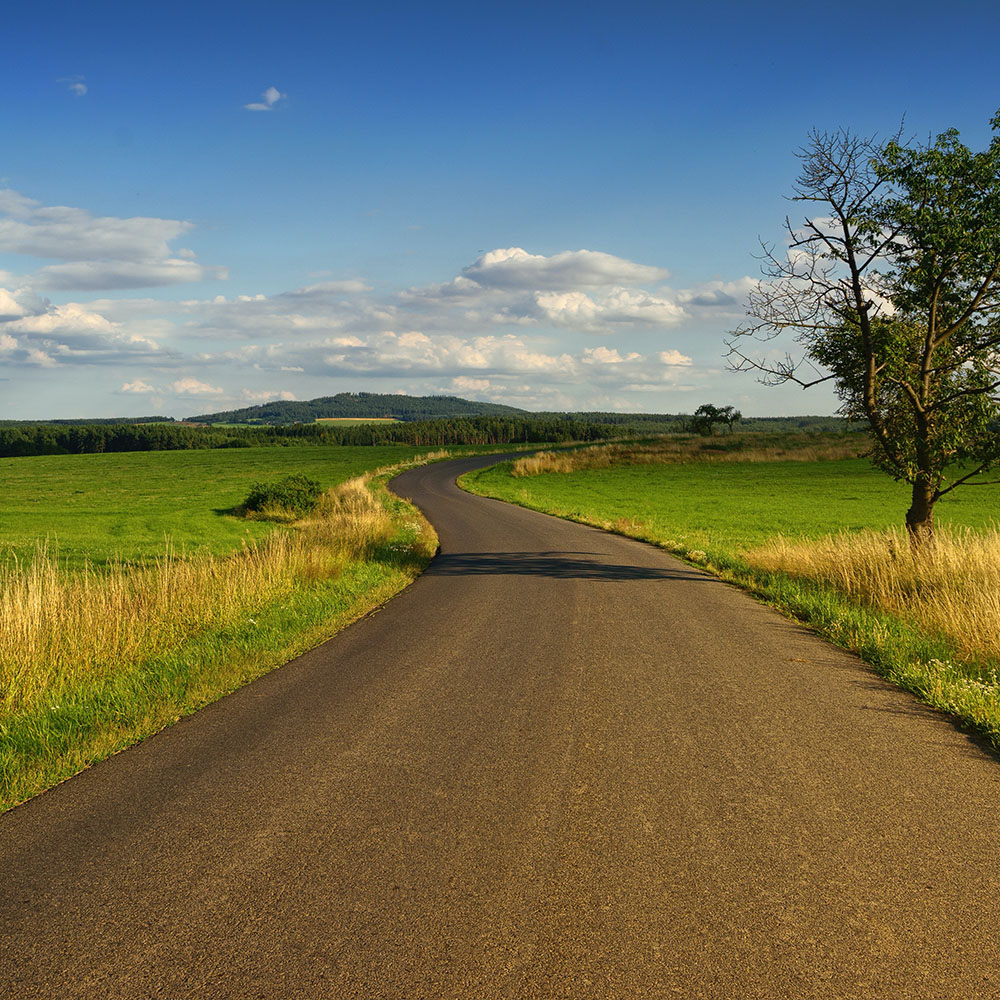 Open road in RV Rental