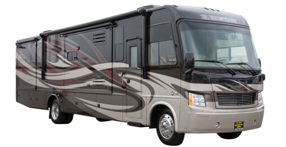 Luxury Motorhome Exterior With Slide Outs