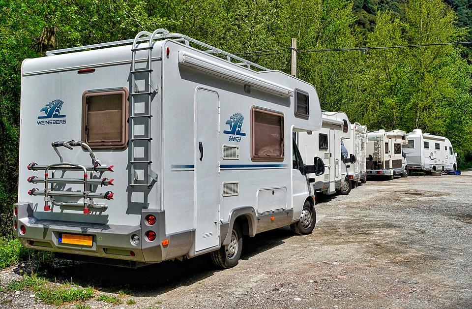 Multiple Parked RV Rentals