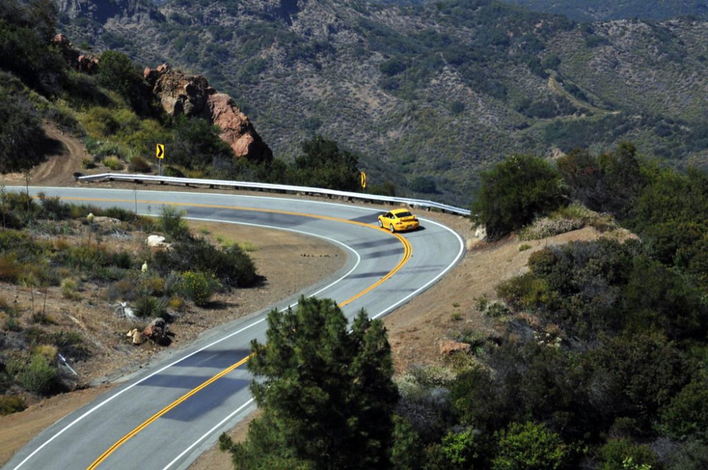 Mulholland Highway Vista Winding Road