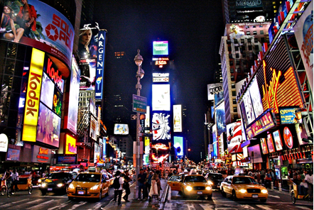 New York City in an RV, experience Times Square